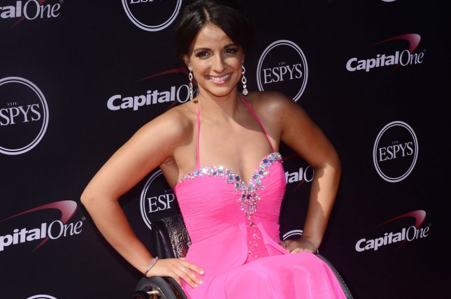 Paralympian swimmer Victoria Arlen was the latest celebrity eliminated from Dancing with the Stars Monday night. File Photo by Jim Ruymen/UPI