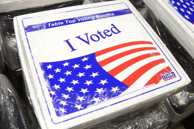 The ballots questions in Tuesday's primary election include changes to Pennsylvania's constitution that would impact emergencies and race-based discrimination. File Photo by Archie Carpenter/UPI