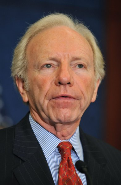Sen. Joe Lieberman speaks in Washington Sept. 21, 2010. UPI/Kevin Dietsch