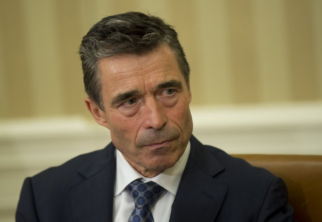 NATO Secretary General Anders Fogh Rasmussen speaks to the media following his meeting with U.S. President Barack Obama, in the Oval Office at the White House on May 31, 2013 in Washington, D.C. UPI/Kevin Dietsch