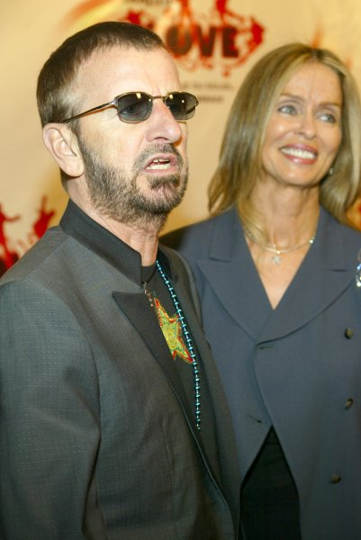 Ringo Starr and his wife Barbara Bach arrive at the premiere of the Beatles Love by Cirque du Soleil, at the Mirage in Las Vegas, NV, July 2, 2006..(UPI Photo/Roger Williams)