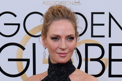 Actress Uma Thurman arrives for the 71st annual Golden Globe Awards at the Beverly Hilton Hotel in Beverly Hills, California on January 12, 2014. UPI/Jim Ruymen