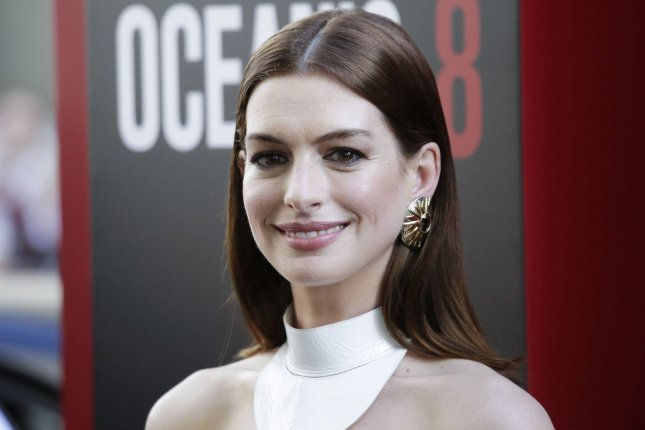 Anne Hathaway attends the New York premiere of Ocean's 8 on Tuesday. Photo by John Angelillo/UPI