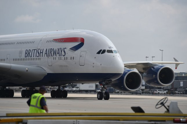 A British Airways flight that was supposed to travel from London to Dusseldorf, Germany, instead ended up in Edinburgh, Scotland, due to a mix-up with the flight plan. File Photo by Molly Riley/UPI