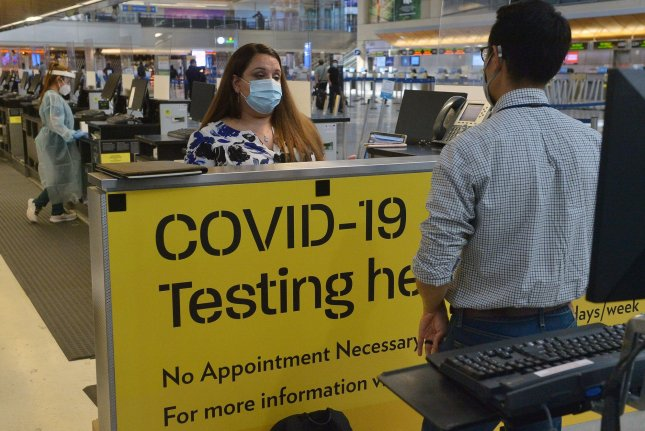 The Centers for Disease Control and Prevention announced Tuesday that all international travelers will be required to provide proof of a negative COVID-19 test before boarding their flights to the United States. File Photo by Jim Ruymen/UPI