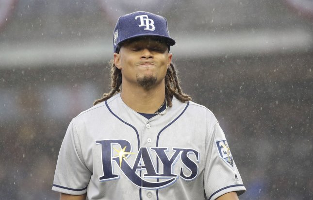 Chris Archer and the Tampa Bay Rays take on the Baltimore Orioles on Thursday. Photo by John Angelillo/UPI