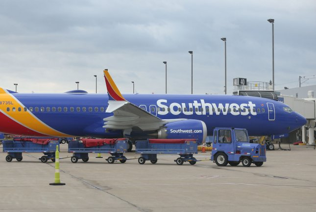A Southwest Airlines flight attendant discovered an iPad in the cockpit playing a livestream of the bathroom and is suing the airlines. Photo by Bill Greenblatt/UPI