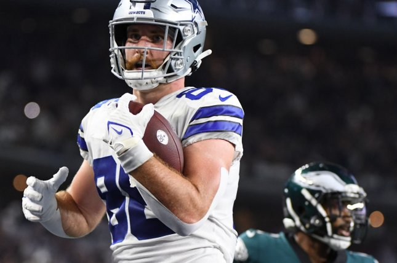Dallas Cowboys tight end Dalton Schultz ranks No. 2 at his position in my Week 6 fantasy football rankings. File Photo by Ian Halperin/UPI