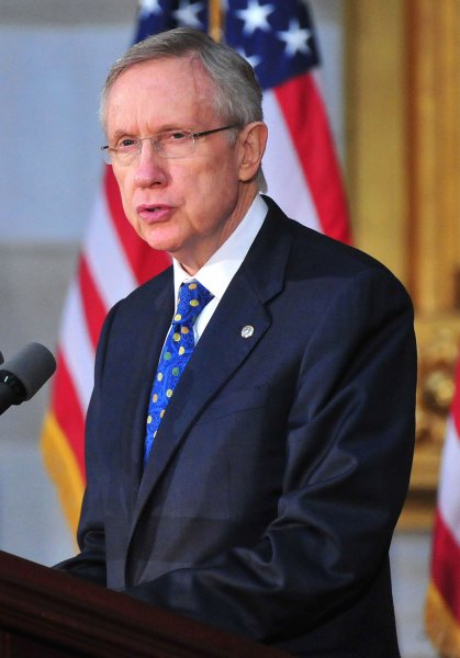 Senate Majority Leader Harry Reid, D-Nev., at the U.S. Capitol Building in Washington, May 3, 2011. UPI/Kevin Dietsch