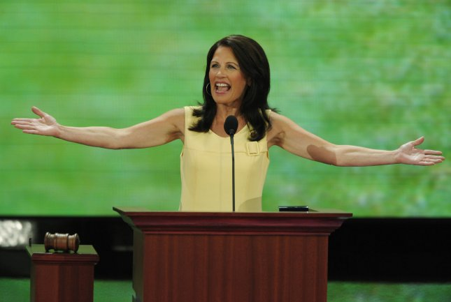 Rep. Michelle Bachmann (R-MN) speaks on the second day of the Republican National Convention in St. Paul, Minnesota, on September 2, 2008. (UPI Photo/Roger L. Wollenberg)