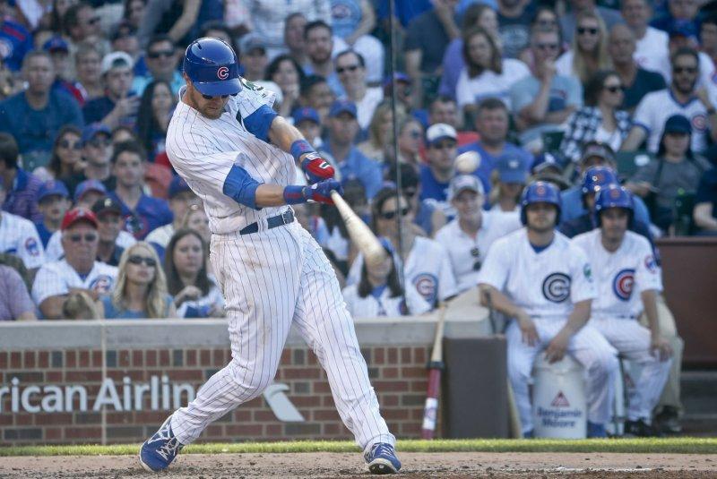 Chicago Cubs second baseman Ben Zobrist (18). Photo by Kamil Krzaczynski/UPI