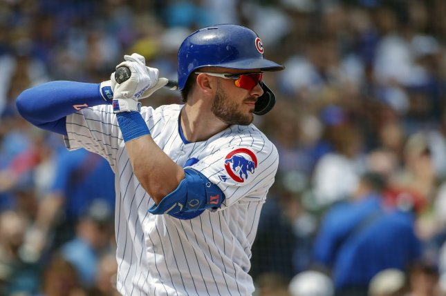 Chicago Cubs third baseman Kris Bryant had 31 home runs and 77 RBIs last season. File Photo by Kamil Krzaczynski/UPI