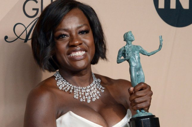 Actress Viola Davis appears backstage during the 23rd annual SAG Awards held at the Shrine Auditorium in Los Angeles on January 29. Her show How to Get Away with Murder has been renewed for another season. File Photo by Jim Ruymen/UPI