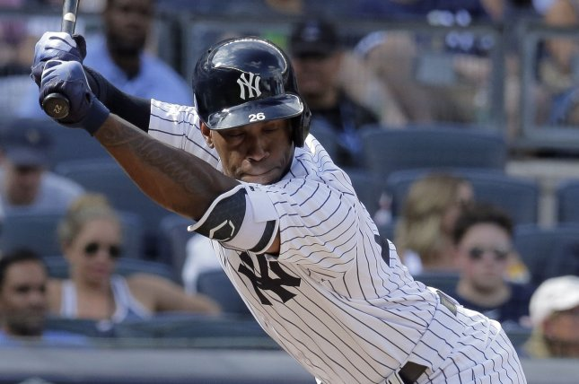 The New York Yankees acquired Andrew McCutchen during August on the waiver wire. Under new rules, the August waiver wire will be discontinued in Major League Baseball. File Photo by Ray Stubblebine/UPI
