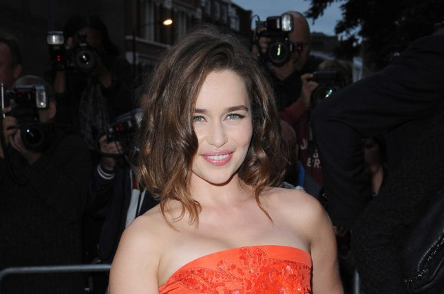 Emilia Clarke at the GQ Men of the Year Awards on September 8. The actress said she 'can't stand' sex scenes in a recent interview. File photo by Paul Treadway/UPI