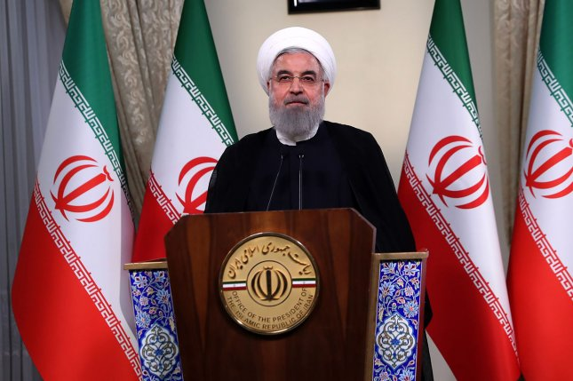 Iranian President Hassan Rouhani said his country will partially pull out of the nuclear deal it signed with six other countries in 2015 and threatened to wholly withdraw from the deal if its demands are not met. Photo by the Iranian Presidency Office / UPI