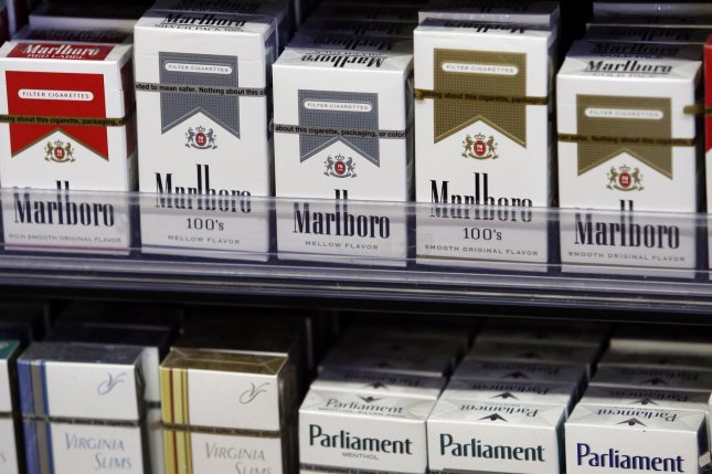Bipartisan legislation would increase the tobacco buying age to a minimum of 21 in the United States. File Photo by John Angelillo/UPI