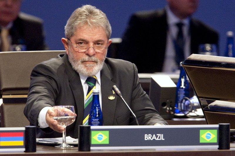 Brazilian President Luiz Inacio Lula da Silva attends the opening plenary of the Nuclear Security Summit at the Washington Convention Center in Washington on April 13, 2010. UPI/Andrew Harrer/Pool