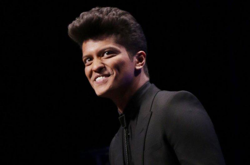 Bruno Mars. UPI /John Angelillo