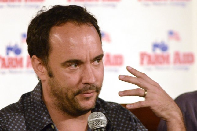 Farm Aid performer Dave Matthews speaks to the media during the press conference before the Farm Aid 2012 concert in Hershey, Pennsylvania on September 22, 2012. UPI/Archie Carpenter