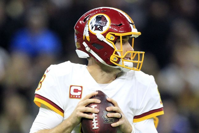 Washington Redskins quarterback Kirk Cousins (8) throws against the New Orleans Saints at the Mercedes-Benz Superdome in New Orleans November 19, 2017. File photo by AJ Sisco/UPI