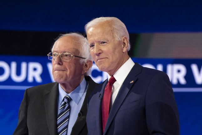 Democratic presidential candidate former Vice President Joe Biden (R) is the latest target of North Korean state media. File Photo by Kevin Dietsch/UPI