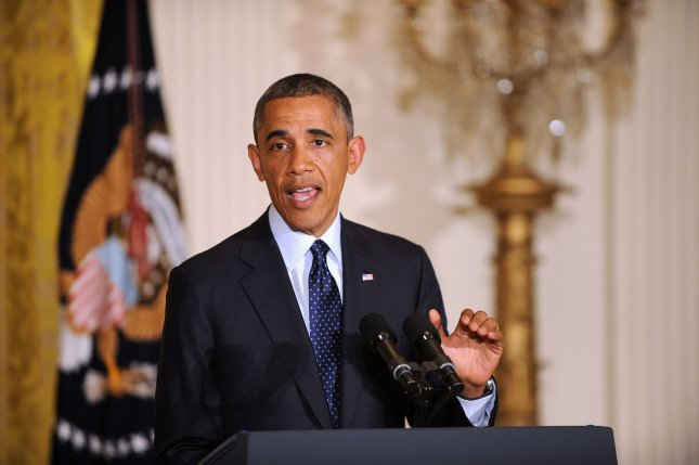 U.S. President Barack Obama delivers a statement on the situation regarding the Internal Revenue Service after meeting with Senior Treasury Officials May 15, 2013 in the East Room of the White House in Washington, DC. UPI/Olivier Douliery/Pool