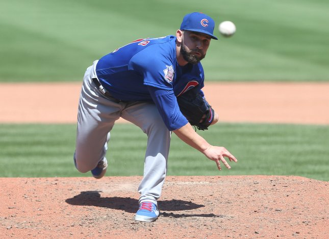 Tyler Chatwood and the Chicago Cubs face the Cincinnati Reds on Sunday. Photo by Bill Greenblatt/UPI