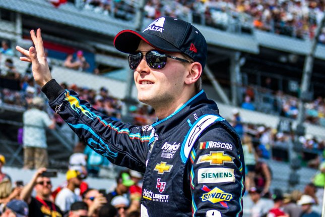 William Byron on Sunday will be without his pit crew for a second consecutive race after several members of the pit crew tested positive for COVID-19. File Photo by Edwin Locke/UPI