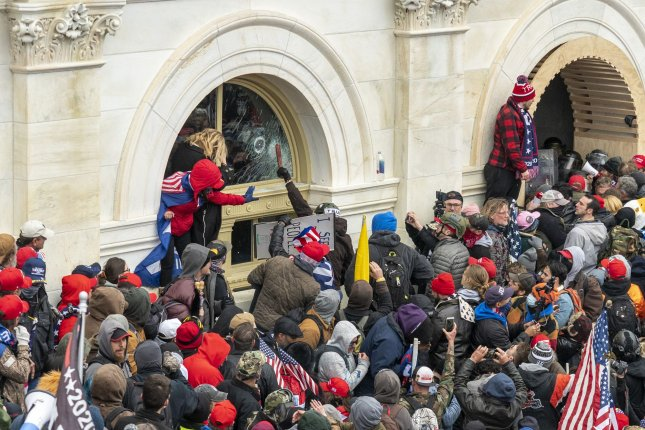 The Justice Department on Tuesday declined to represent Republican Rep. Mo Brooks who has been accused of inciting the rioters who stormed the Capitol building on Jan. 6. Photo by Ken Cedeno/UPI