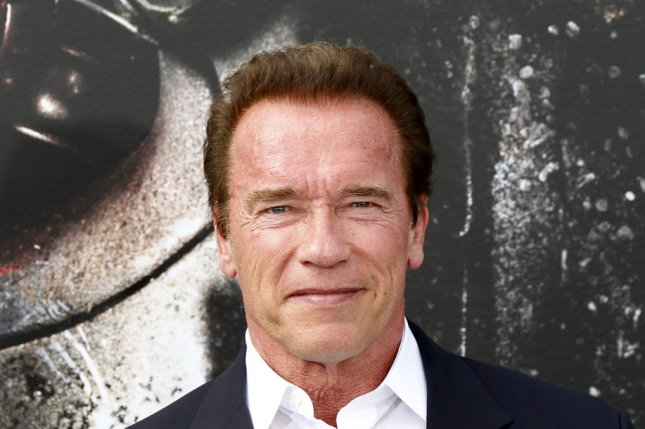 Arnold Schwarzenegger attending the premiere of Terminator Genisys on June 28, 2015. The actor has now signed on to star in Why We're Killing Gunther. File Photo by Alex Gallardo/UPI