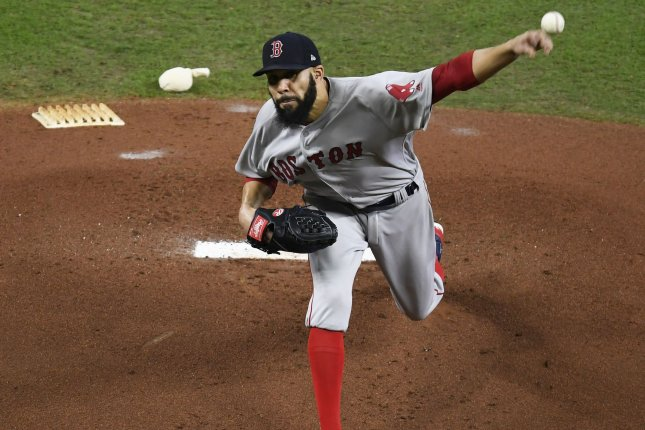 Boston Red Sox starting pitcher David Price has a 3.24 ERA this year. Photo by Trask Smith/UPI