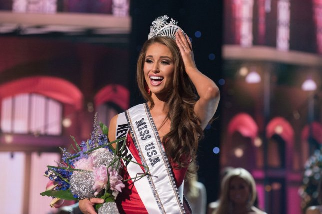 Nia Sanchez, Miss Nevada reacts after being crowned Miss USA during the 2014 Miss USA competition, telecast live on NBC at the Baton Rouge River Center in Baton Rouge, Louisiana on June 8, 2014. UPI/Greg Harbough/HO