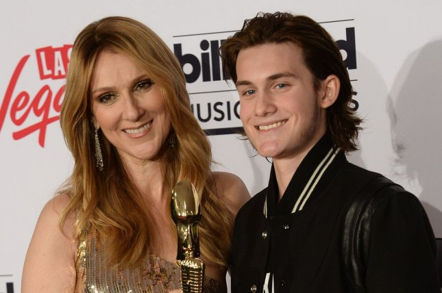 Celine Dion (L) and son Rene-Charles Angelil at the Billboard Music Awards on May 22, 2016. File Photo by Jim Ruymen/UPI