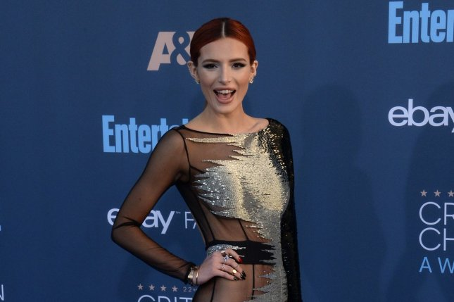 Bella Thorne attends the Critics' Choice Awards on December 11, 2016. The actress reportedly headed to Cannes, France, with Scott Disick on Monday. File Photo by Jim Ruymen/UPI