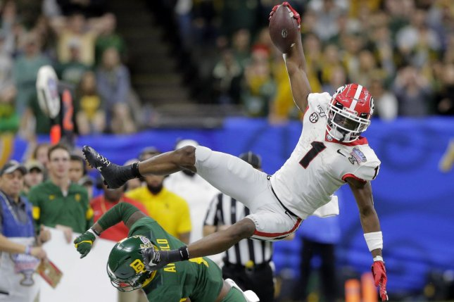 Georgia Bulldogs wide receiver George Pickens was quarterback Jake Fromm's top target during a Sugar Bowl win over Baylor on Wednesday in New Orleans. Photo by AJ Sisco/UPI
