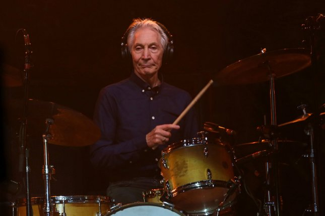 Charlie Watts of The Rolling Stones performs in concert at the new U Arena near Paris on October 19, 2017. The drummer turns 80 on June 2. File Photo by David Silpa/UPI