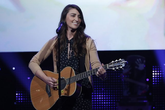 Sara Bareilles performs at the NASCAR Foundation Honors Gala in New York last September. The singer-songwriter is to begin a 10-week run in Broadway's Waitress next month. File Photo by John Angelillo/UPI