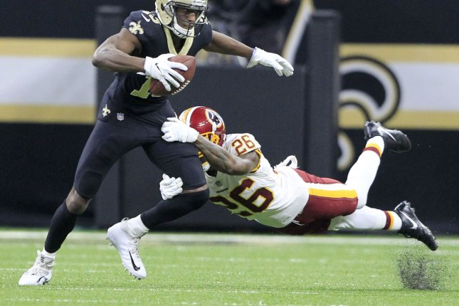 d535e1374 Former Washington Redskins cornerback Bashaud Breeland (26) agreed to a  one-year deal with the Kansas City Chiefs. File Photo by AJ Sisco UPI