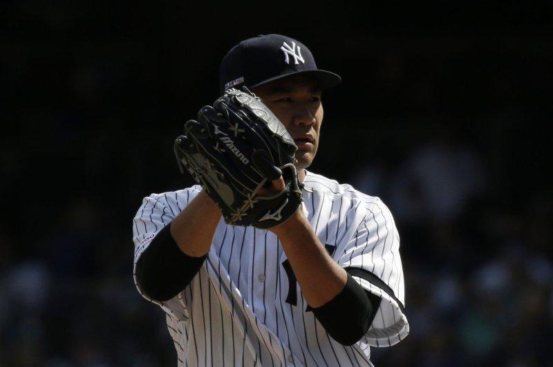 New York Yankees starting pitcher Masahiro Tanaka is 3-3 with a 3.09 ERA this season. FIle Photo by John Angelillo/UPI