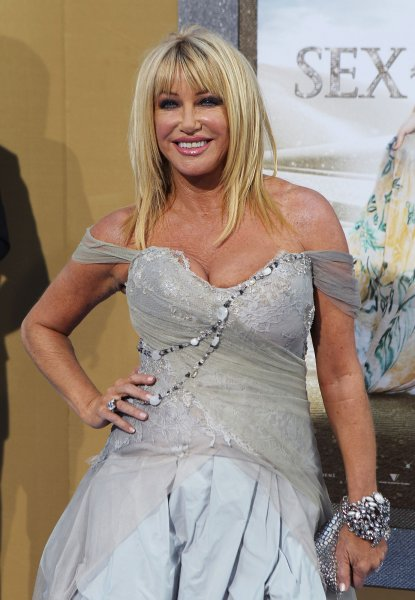 Suzanne Somers arrives on the red carpet at the Sex And The City 2 premiere at Radio City Music Hall in New York City on May 24, 2010. UPI/John Angelillo