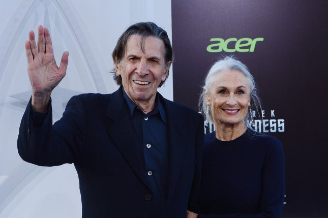 Leonard Nimoy, a cast member in the sci-fi motion picture Star Trek Into Darkness, attends the premiere of the film with his wife Susan Bay at the Dolby Theatre in Los Angeles on May 14, 2013. Photo by Jim Ruymen/UPI