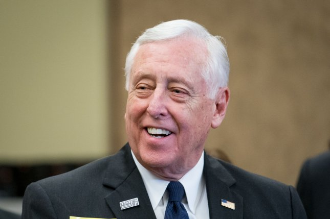 House Minority Whip Steny Hoyer, the chamber's second highest-ranking Democrat, was admitted to the hospital with pneumonia Tuesday. File Photo by Erin Schaff/UPI