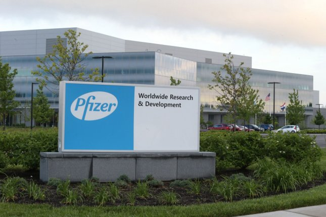Pfizer has been working for months with German drugmaker BioNTech to develop a coronavirus vaccine. File Photo by Bill Greenblatt/UPI