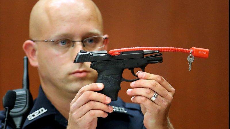 Zimmerman visited plant that made his pistol, showbiz website says