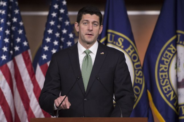 House Speaker Paul Ryan, R-Wis., says he will support Donald Trump for president. Photo by Kevin Dietsch/UPI