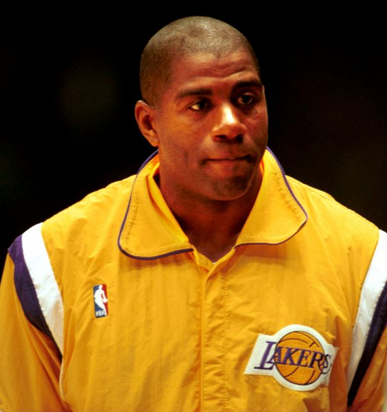 On Sept. 29th, 1992, Earvin Magic Johnson announced he was returning to the Los Angeles Lakers less than a year after he retired because he had the AIDS virus. A month later, Johnson announced his retirement for a second time. Photo by Jim Ruymen/UPI