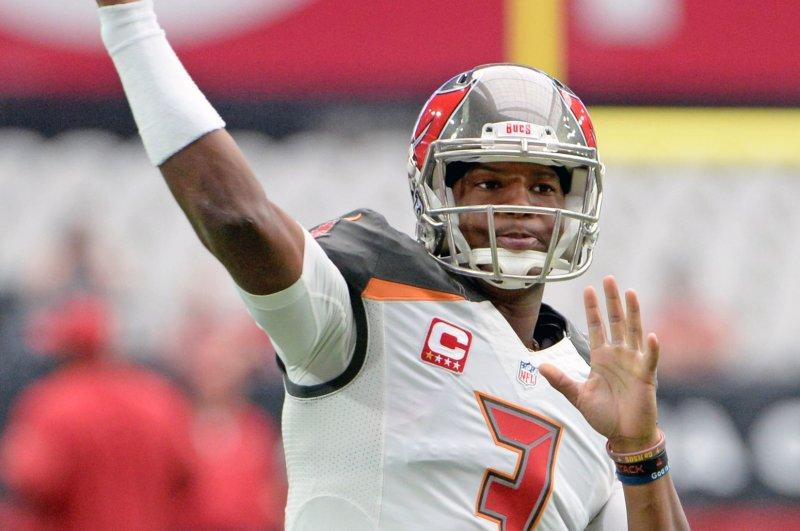 Tampa Bay Buccaneers' quarterback Jameis Winston. Photo by Art Foxall/UPI