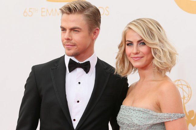 Dancers Derek Hough (L) and Julianne Hough arrive for the 65th Primetime Emmy Awards on September 22, 2013. The brother and sister have announced a new 2017 dancing tour. File Photo by Danny Moloshok/UPI