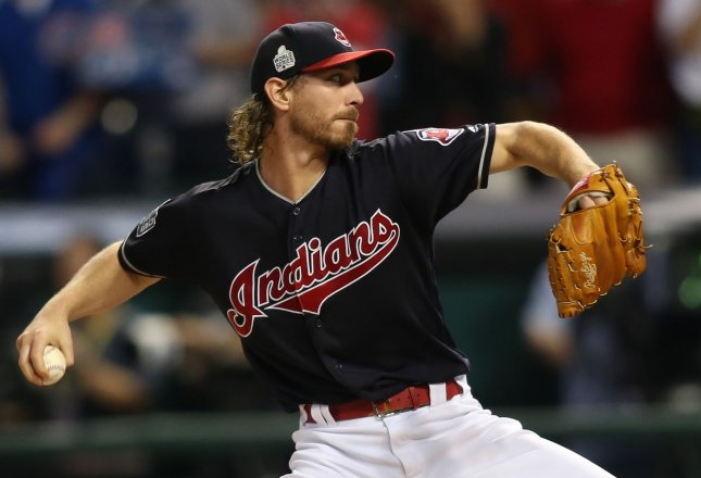 Josh Tomlin and the Cleveland Indians face the Detroit Tigers on Tuesday. Photo by Aaron Josefczyk/UPI